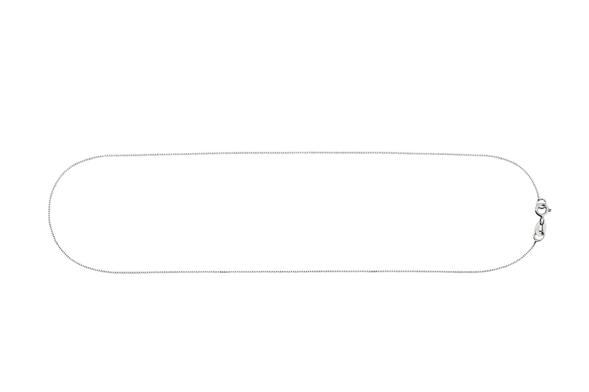 corrente veneziana em ouro branco 40cm