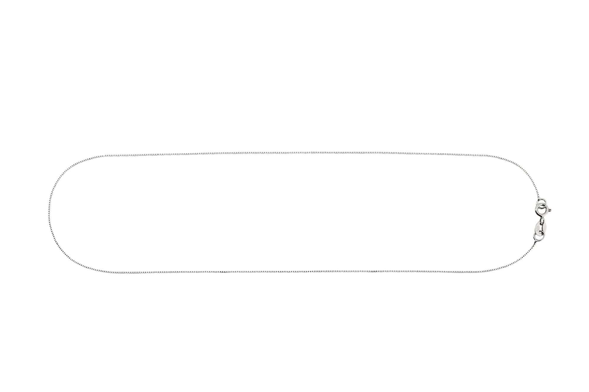 corrente veneziana em ouro branco 50cm.