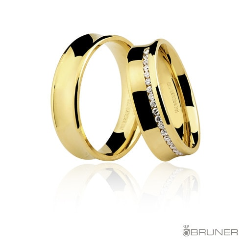 aliança em ouro amarelo Masculina.