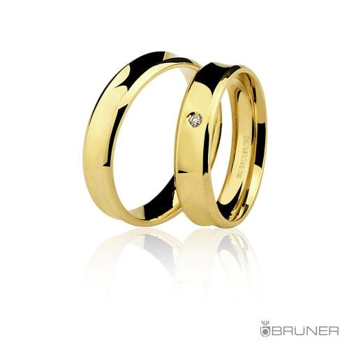 aliança feminina em ouro amarelo com diamantes
